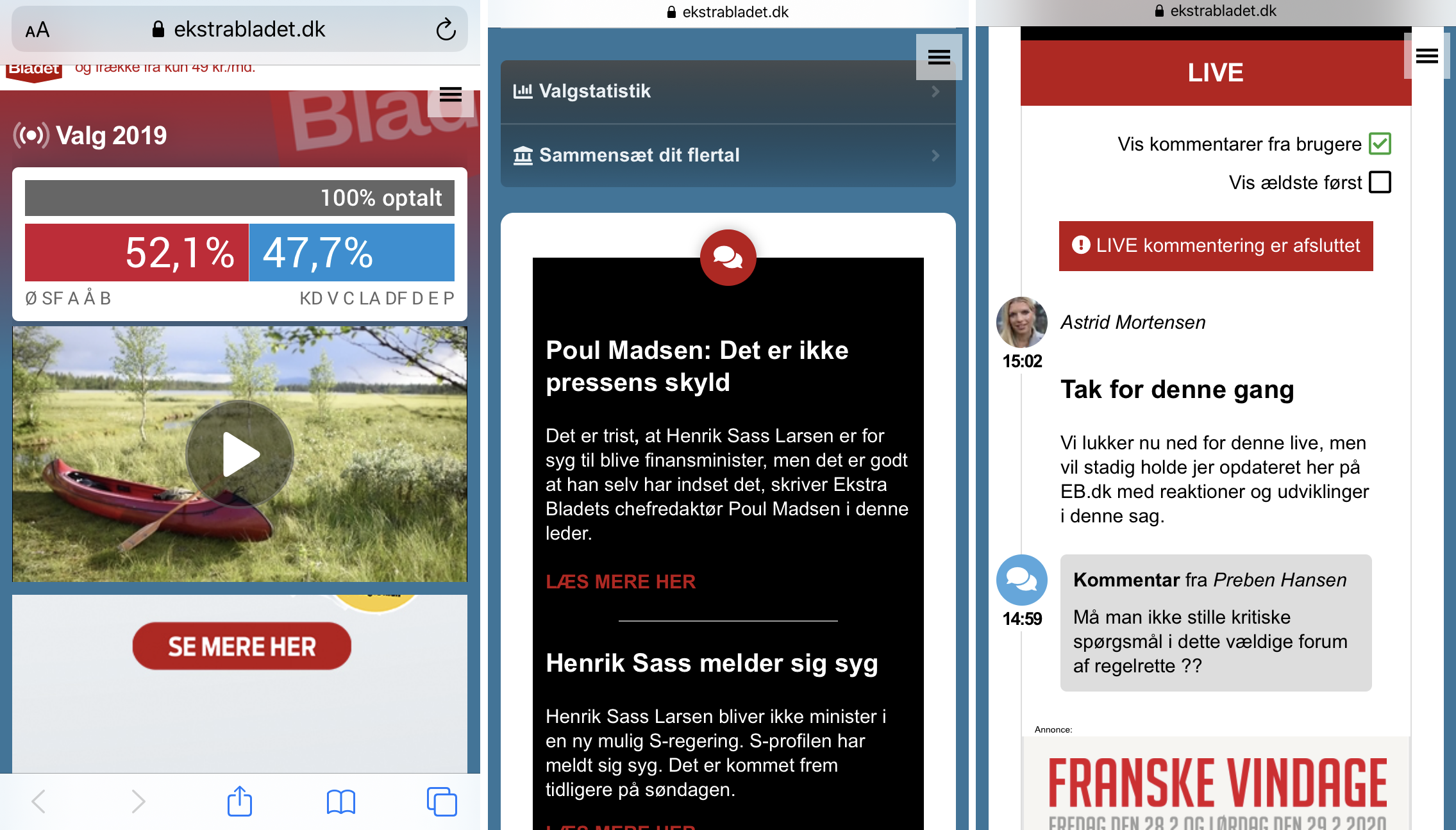 Superlive: Building a second frontpage for election coverage