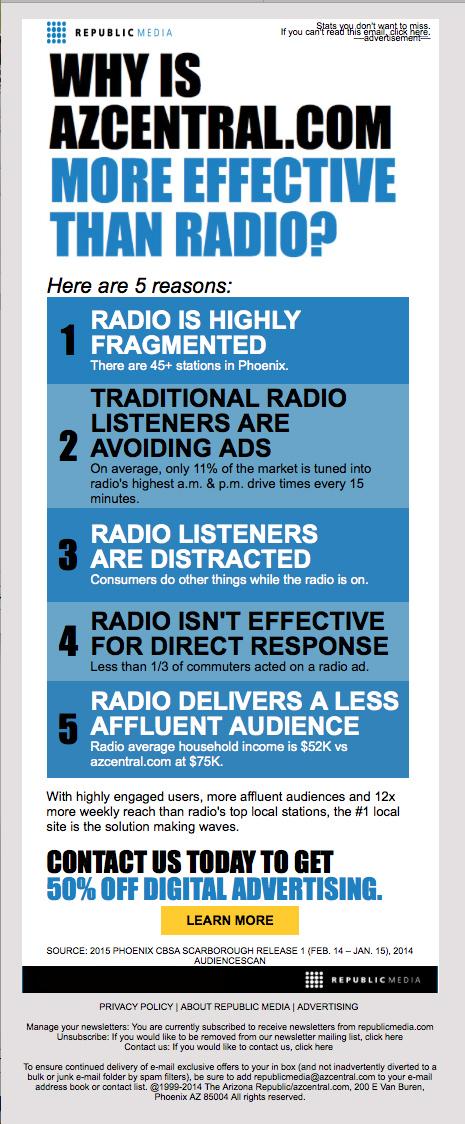 azcentral.com vs. Radio
