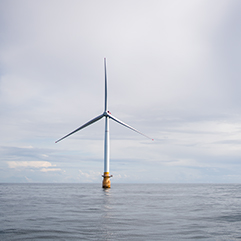 How can 253 meter high wind turbines float on the sea?