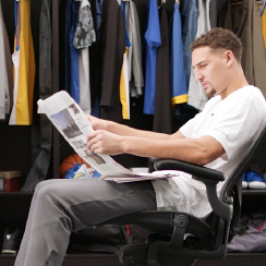 Start a New Ritual, Read the Paper - Klay Thompson Campaign for Bay Area News Group