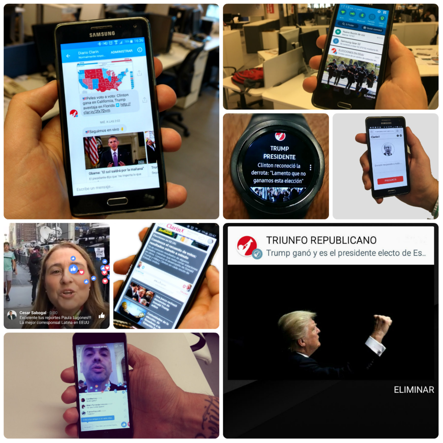 U.S. Presidential Election: a disaggregated mobile coverage
