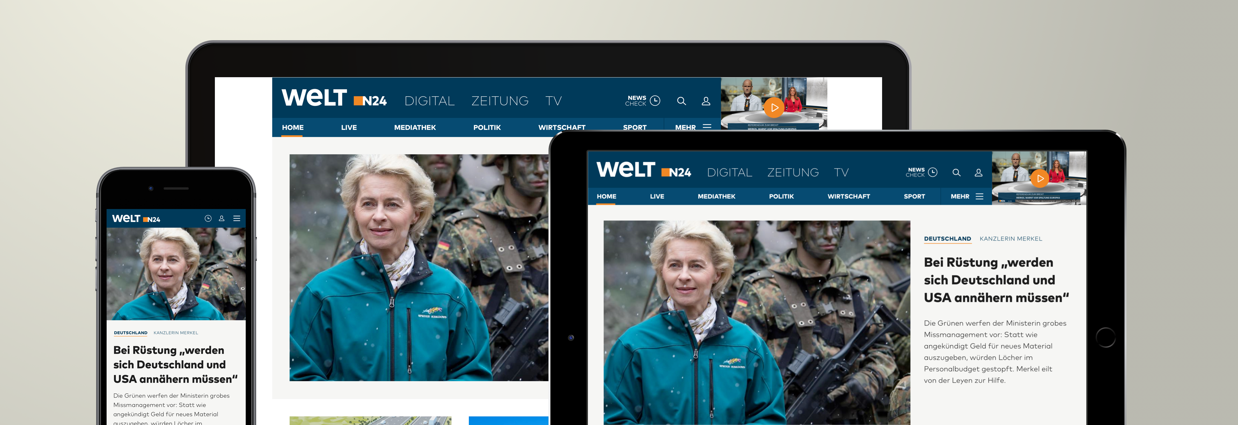 Reinvention of the WELT News Portal