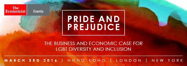 The Economist's Pride & Prejudice event and campaign
