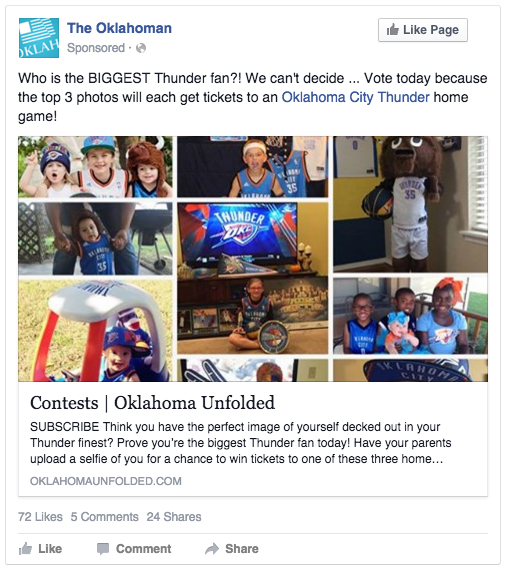 The Oklahoman Biggest Thunder Fan Contest