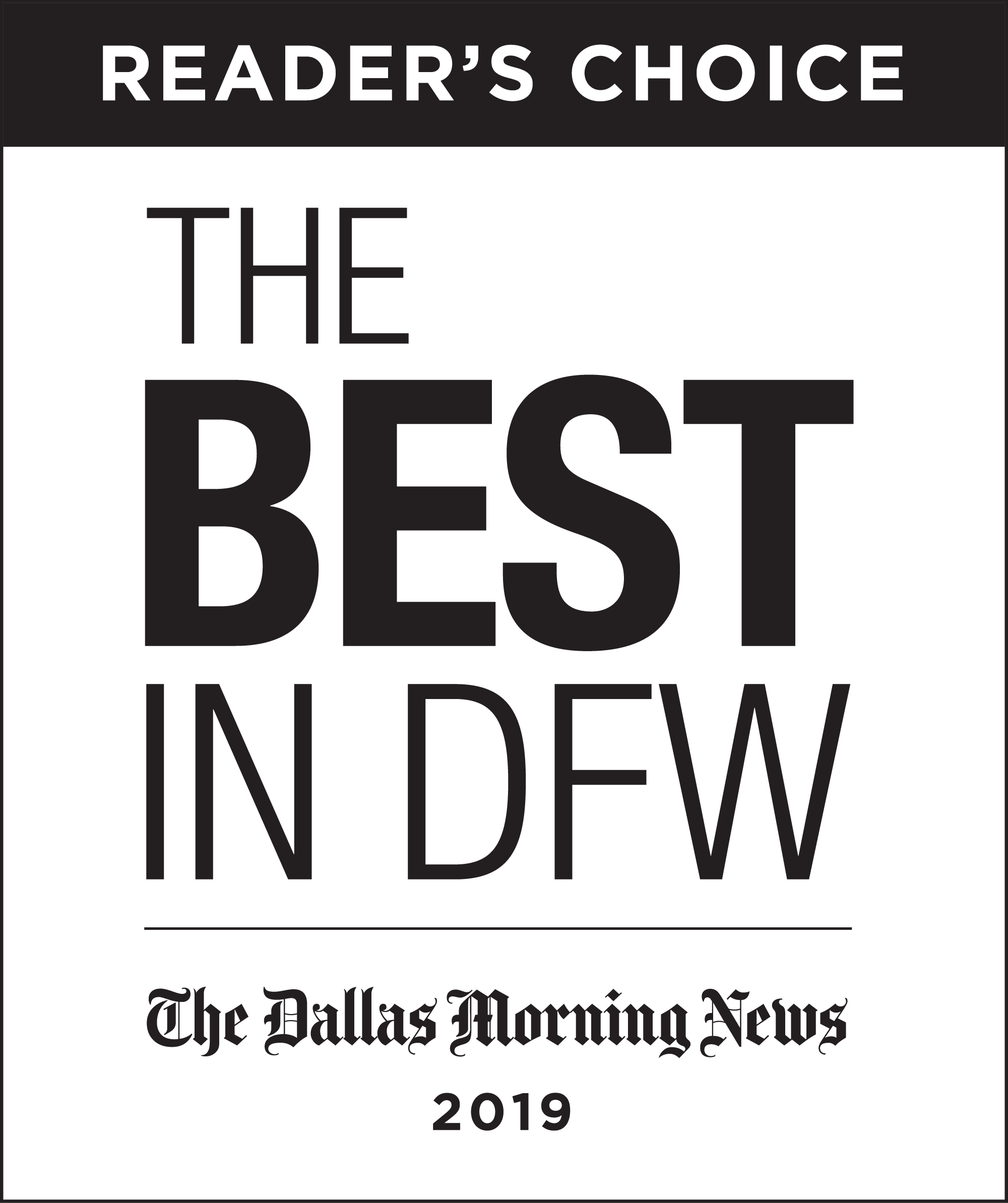 The Dallas Morning News' Reader's Choice Best in D-FW