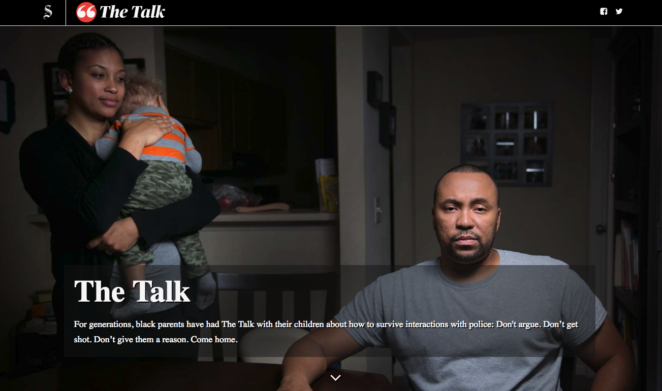 The Talk: An interactive, multi-platform exploration of race-police relations