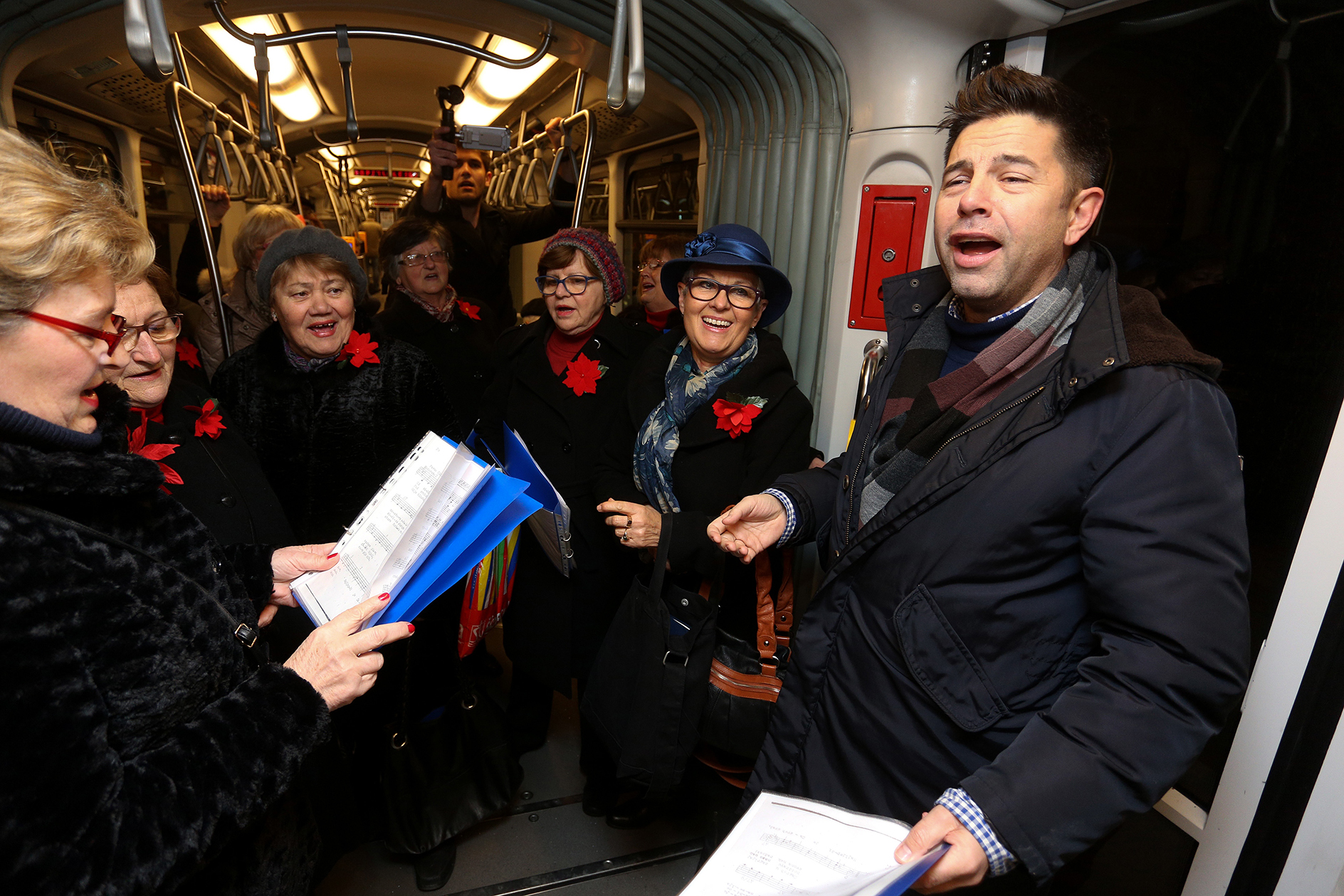Pevec Singing Tram Brings the Holiday Chear