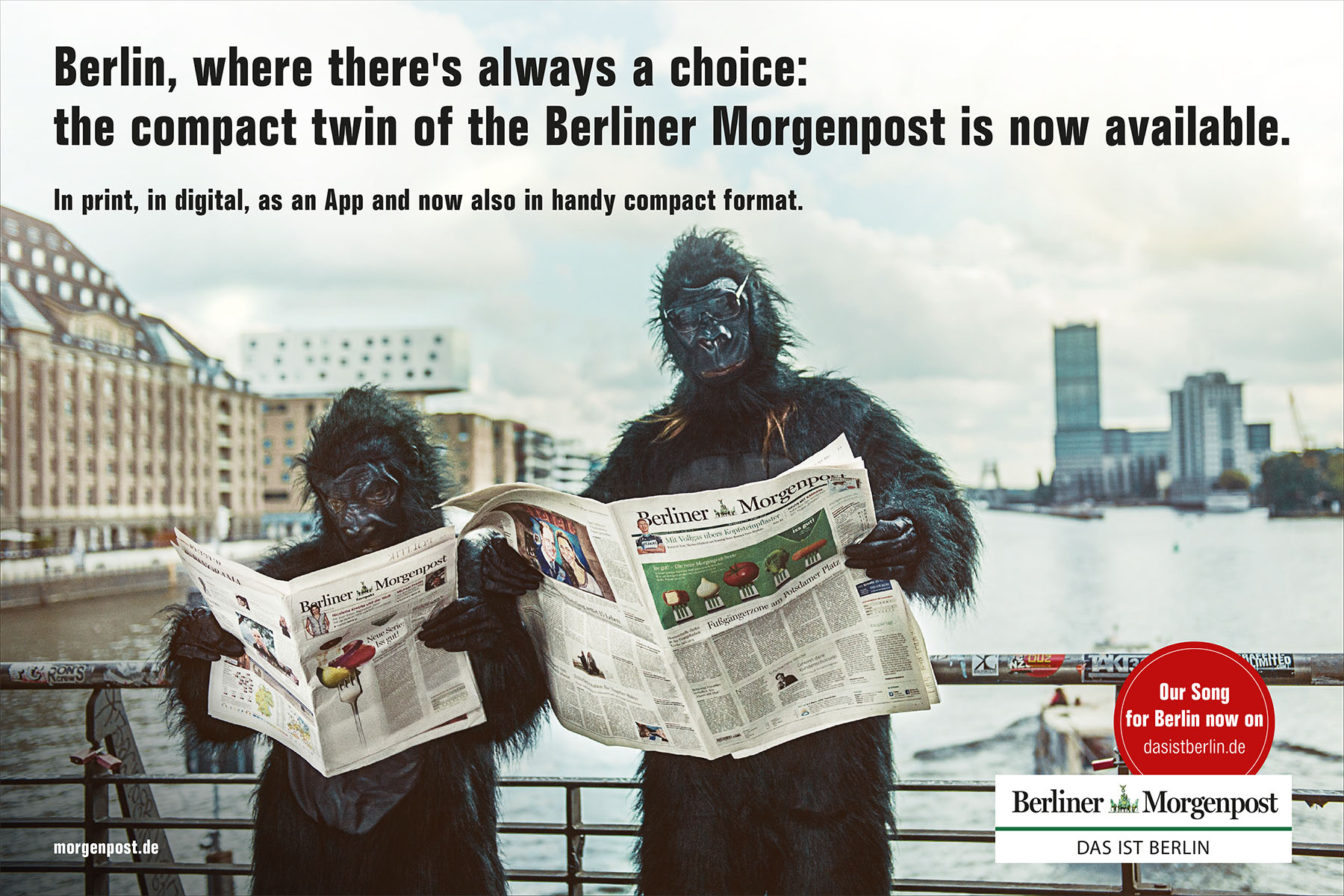 Brand Campaign for the launch of Berliner Morgenpost Compact - Category 1