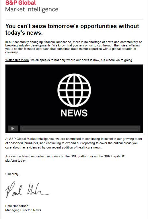 S&P Global Market Intelligence News Video Breaks Records, Builds Brand
