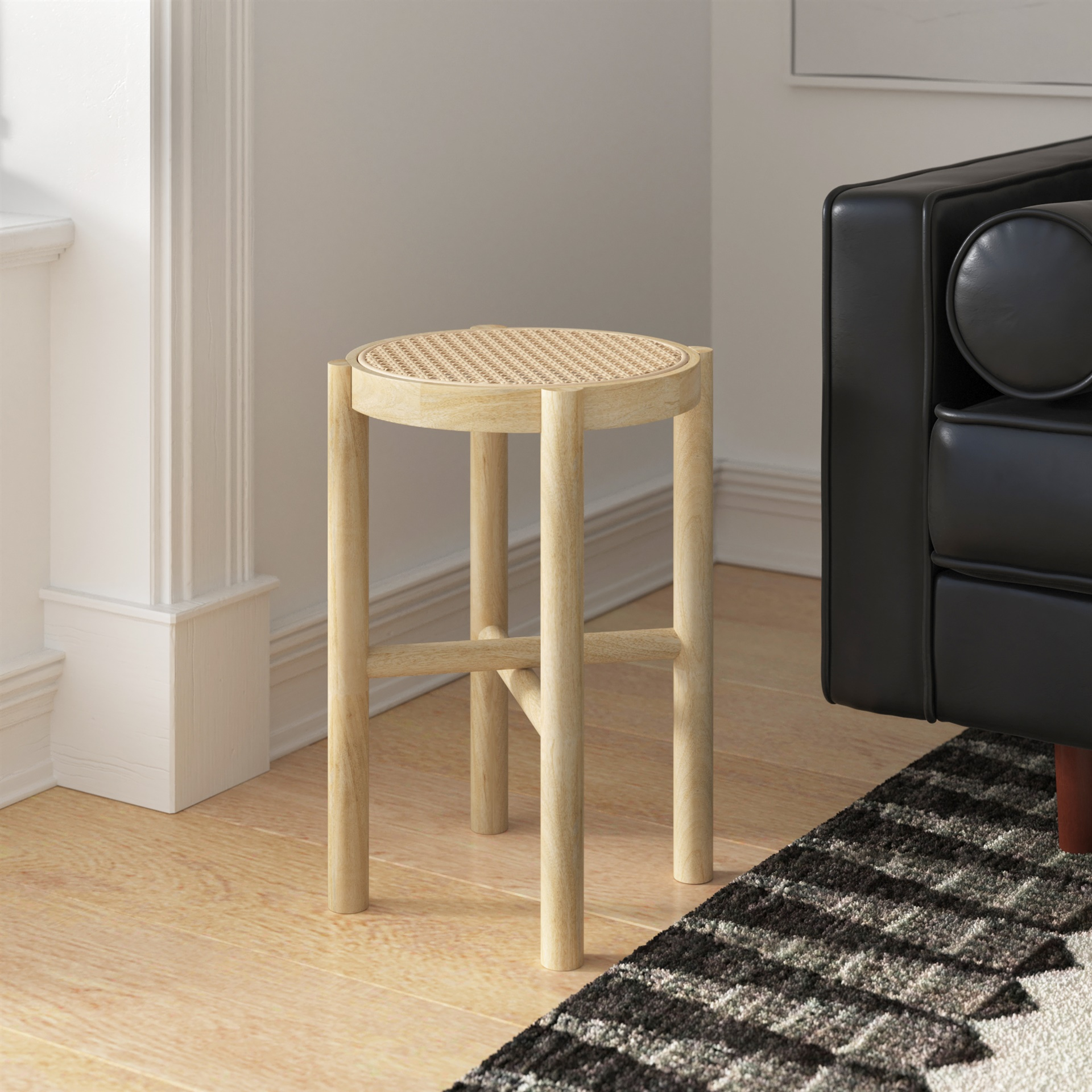 mango wood end table padstyle.com