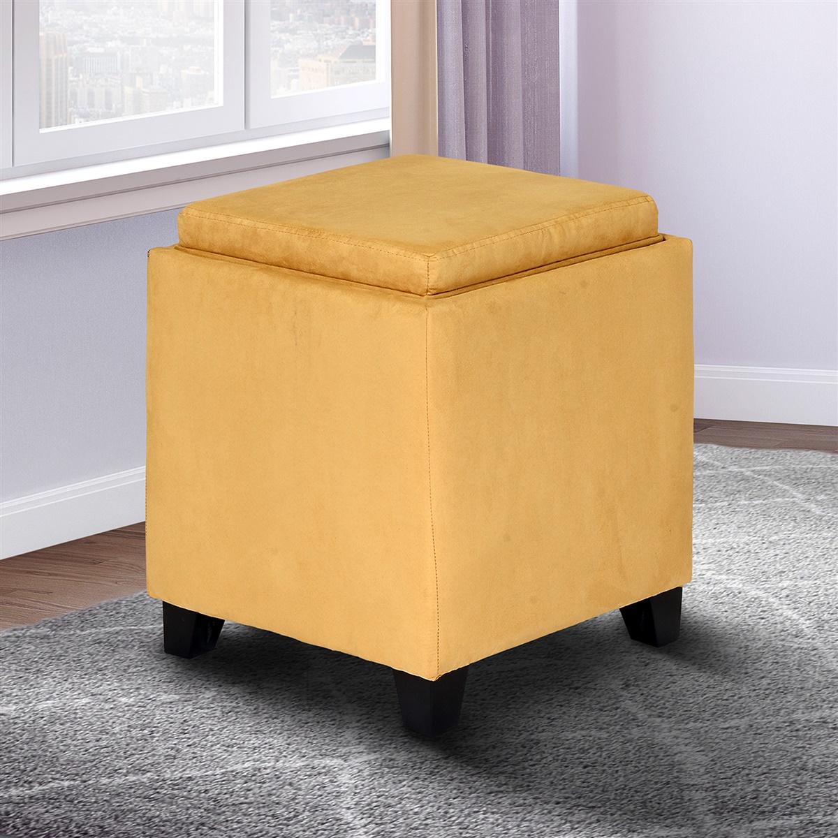 Superb Rainbow Microfiber Storage Ottoman With Tray Ibusinesslaw Wood Chair Design Ideas Ibusinesslaworg