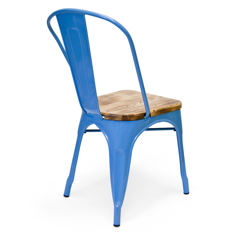 bastille cafe stacking chair weathered wood seat