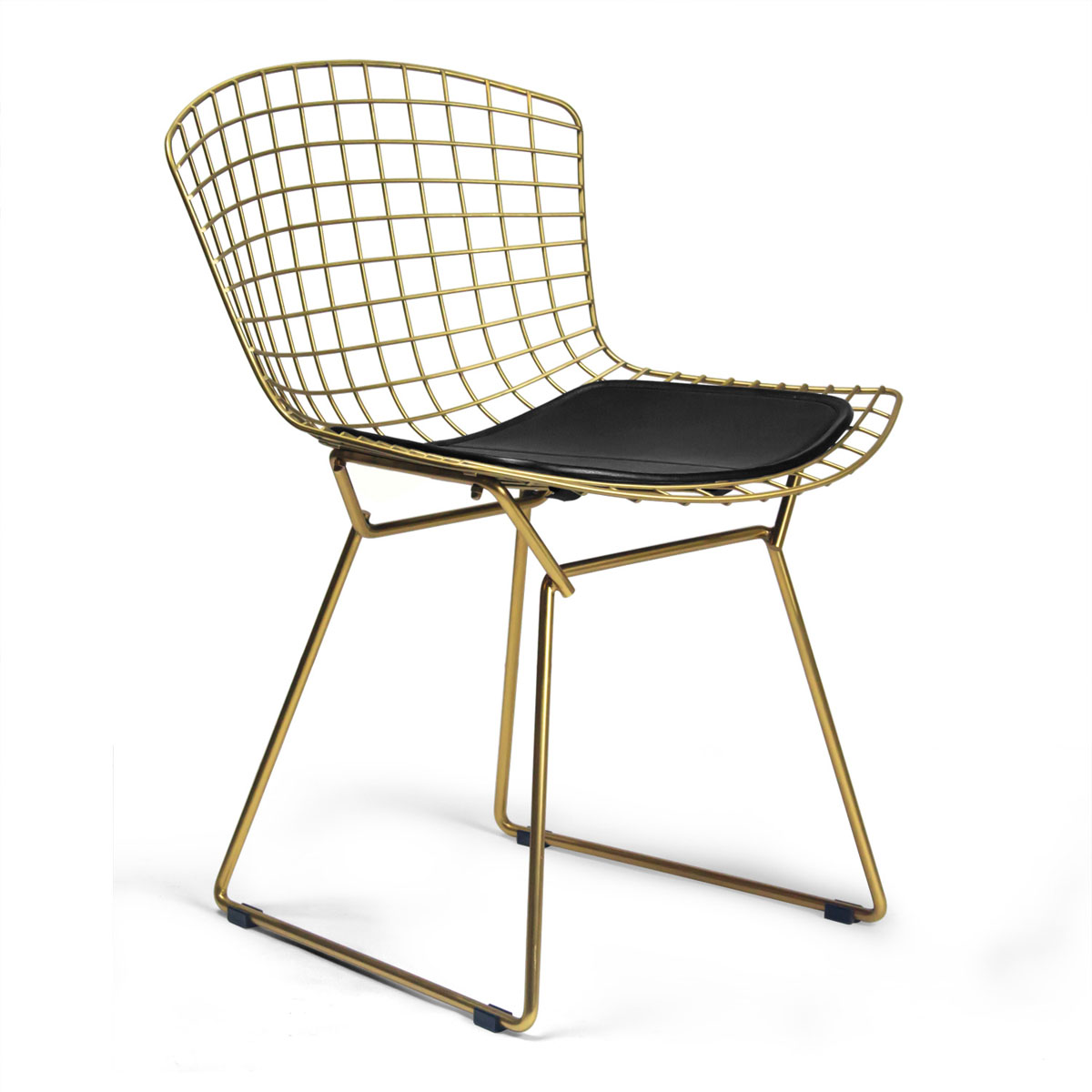bertoia chair cushion design harry modern knoll parlor red grande products front side chrome palette
