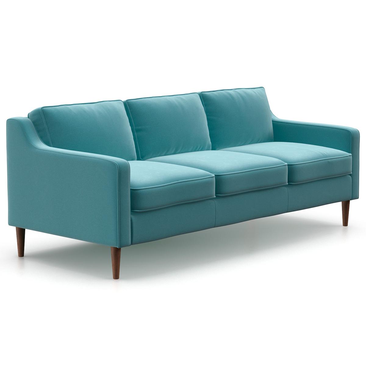 Marvelous Chase Velvet Sofa Inzonedesignstudio Interior Chair Design Inzonedesignstudiocom