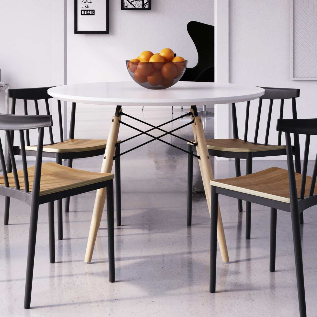 Eiffel Round Dining Table (Large)