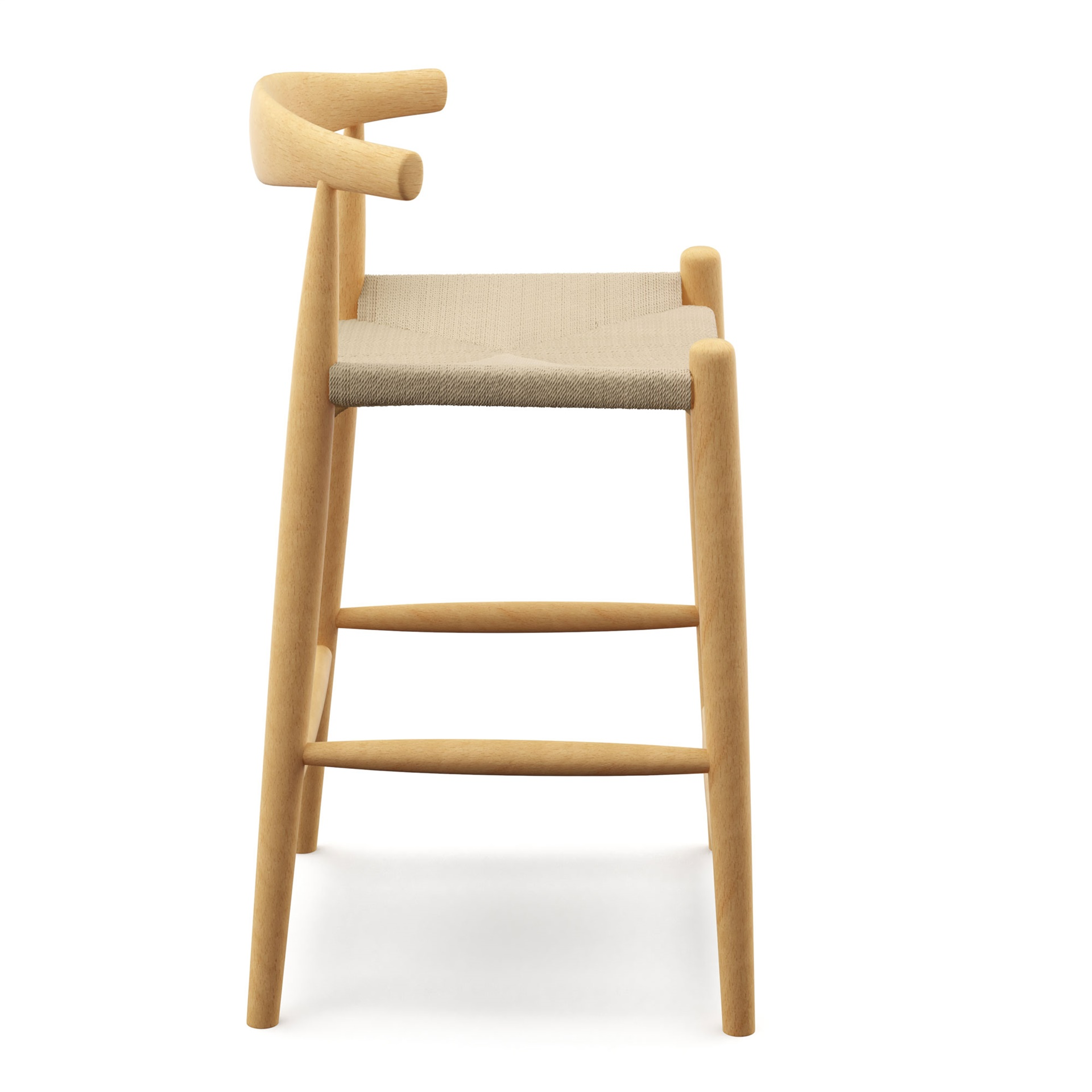 Hans Wegner Elbow Bar Counter Stool