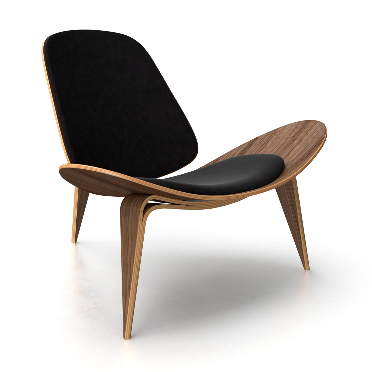 hans eei products chair wegner blk the oak source modern shell reproduction