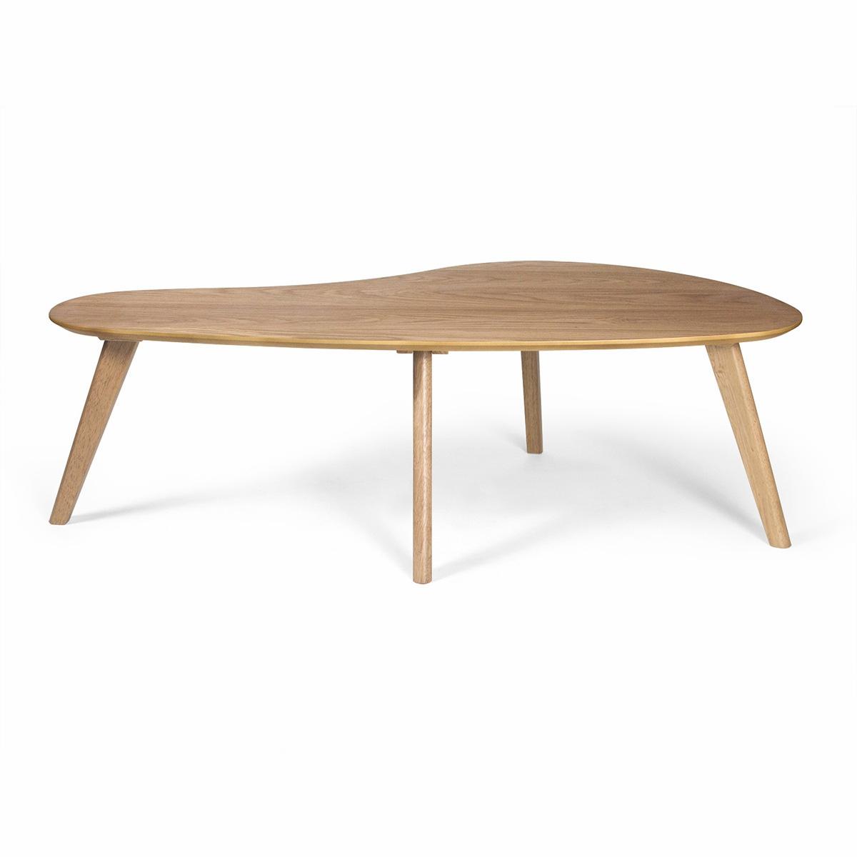 Superieur Kidney Shaped Coffee Table (White Oak)