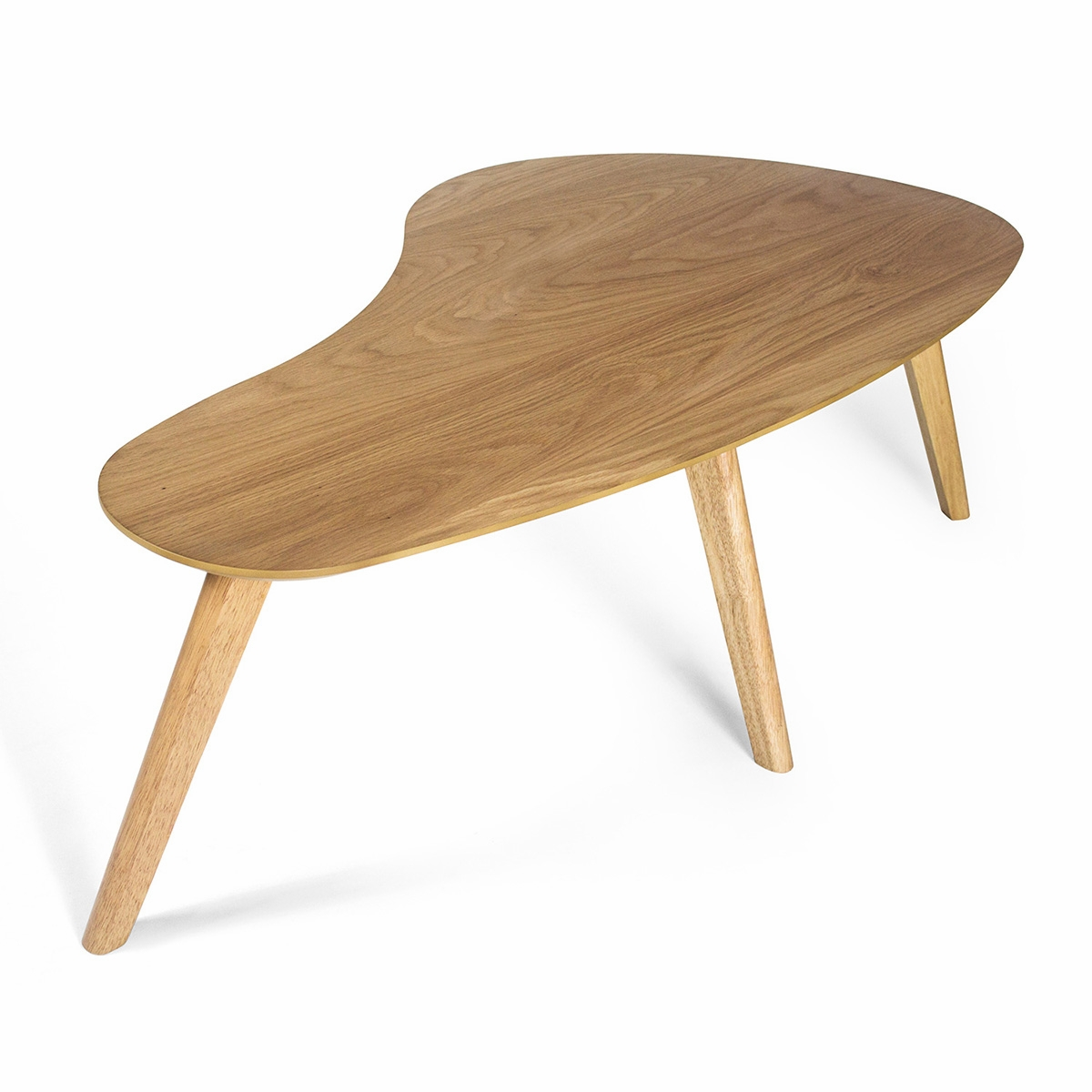 High Quality Kidney Shaped Coffee Table (White Oak)
