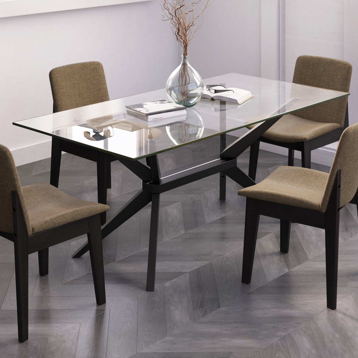Picture of: Magna Glass Dining Table