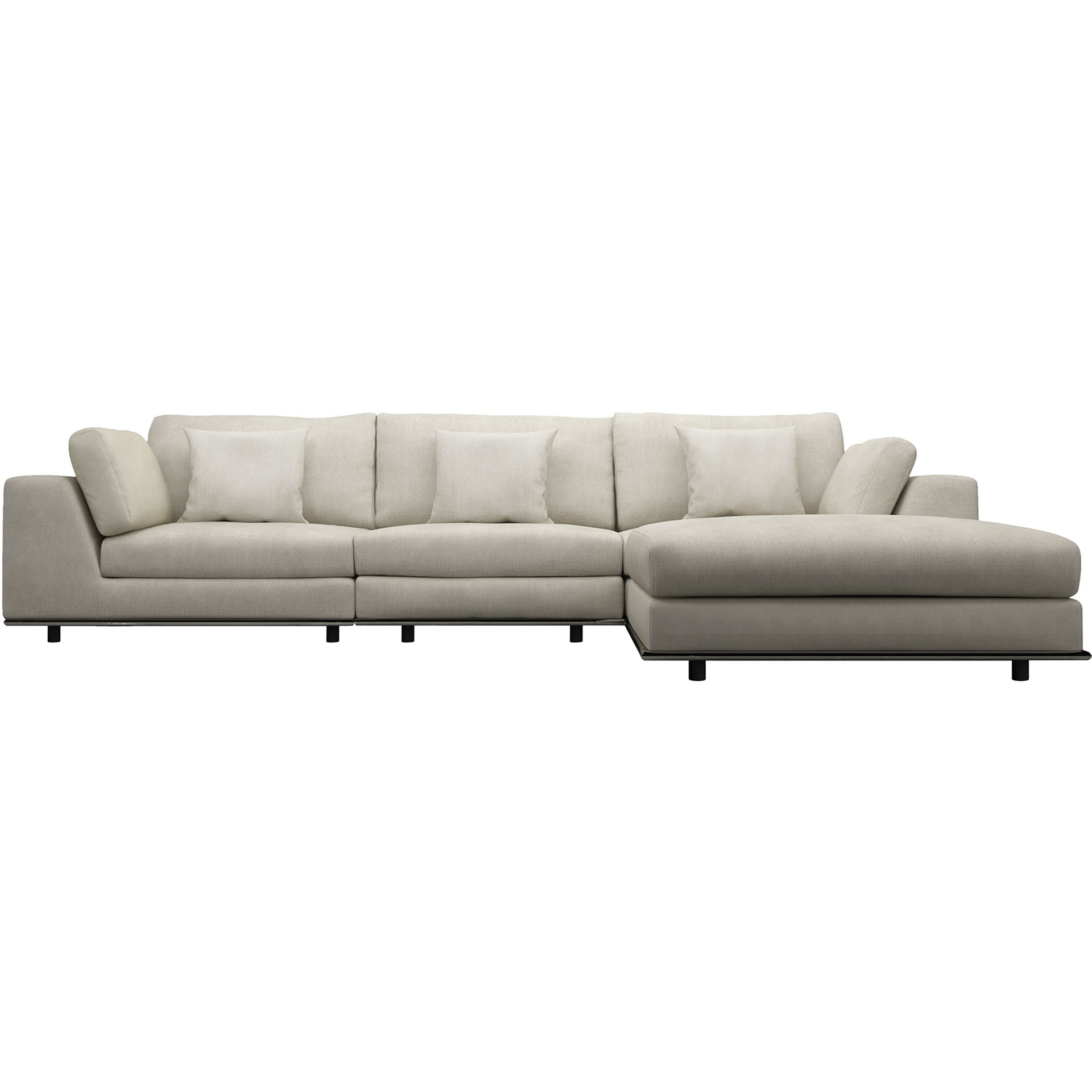 Perry 3-Seat Sofa with Ottoman