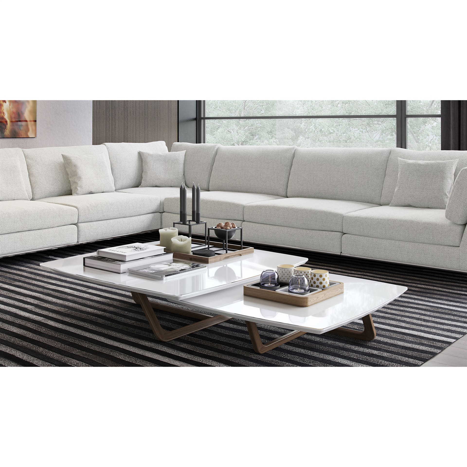 Perry Extended L-Sectional Sofa