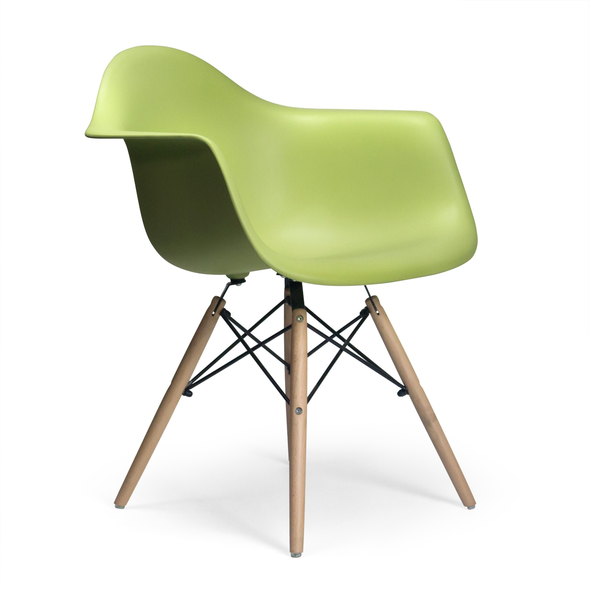 Attrayant Molded Plastic Armchair With Wood Legs. U003e