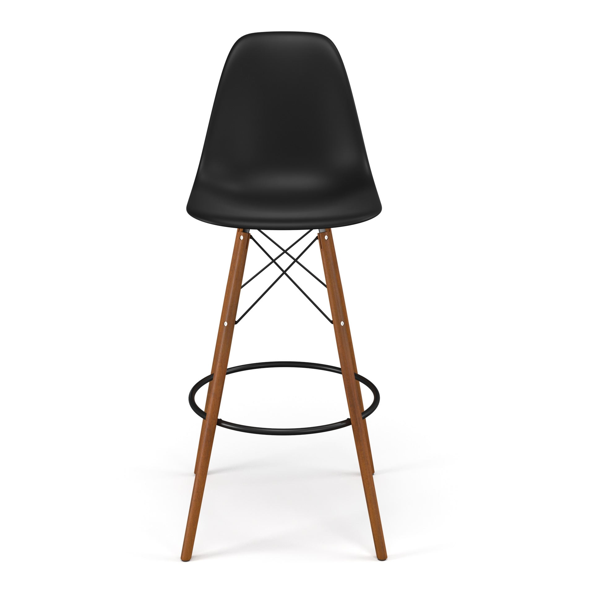 Admirable Molded Plastic Bar Stool With Wood Legs Cjindustries Chair Design For Home Cjindustriesco