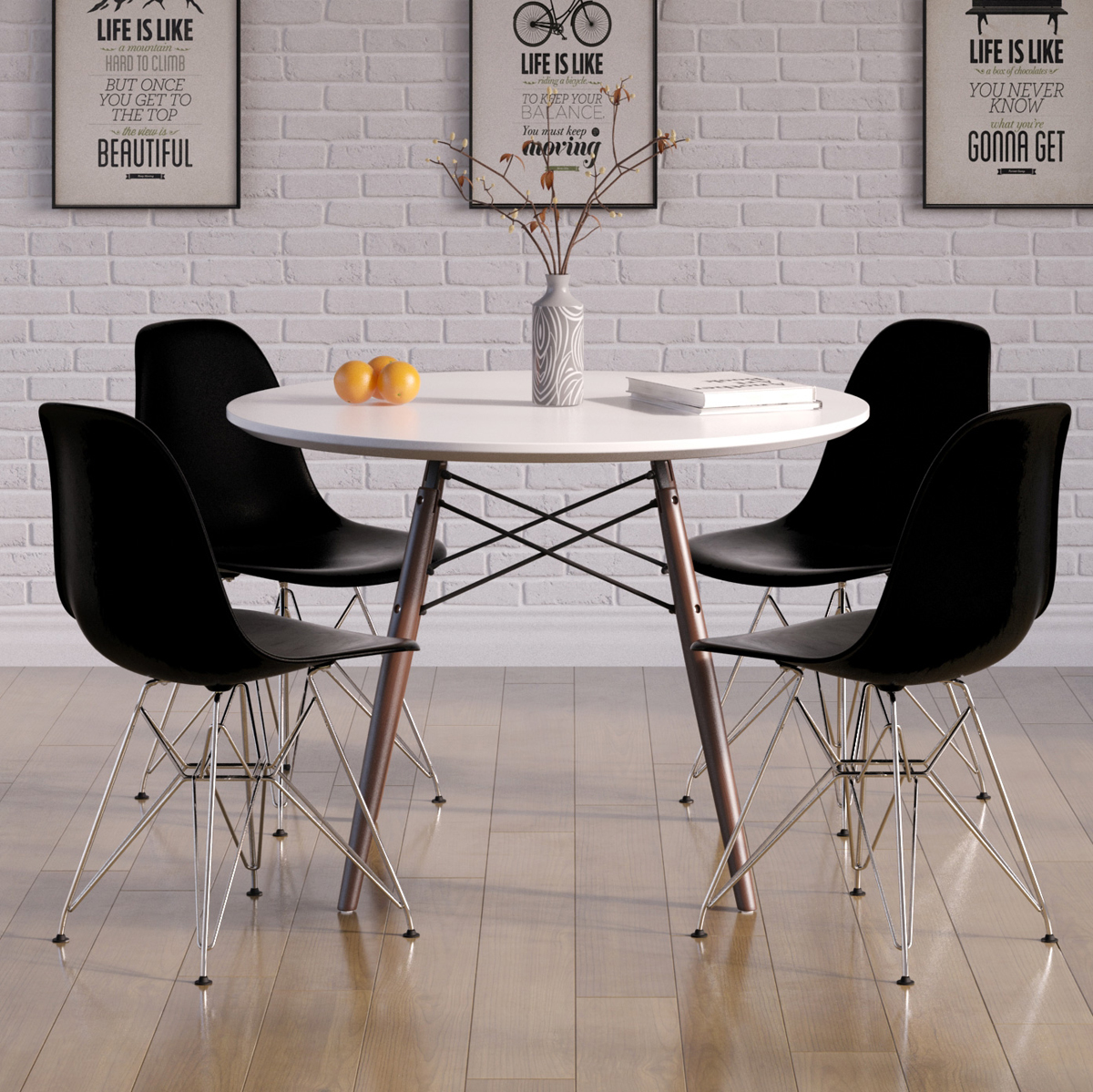Delicieux Molded Plastic Eiffel Side Chair