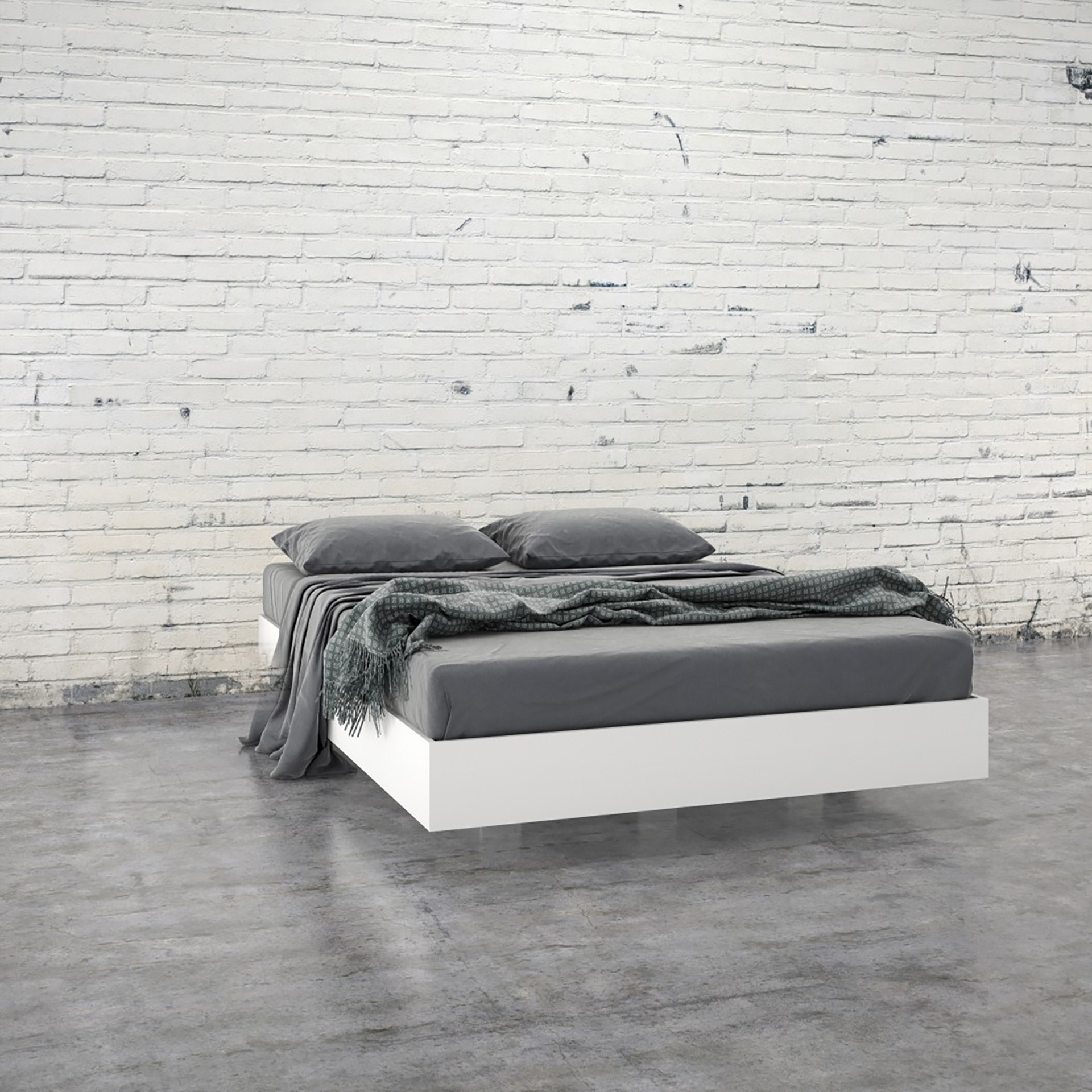 Picture of: 345403 Full Size Platform Bed White