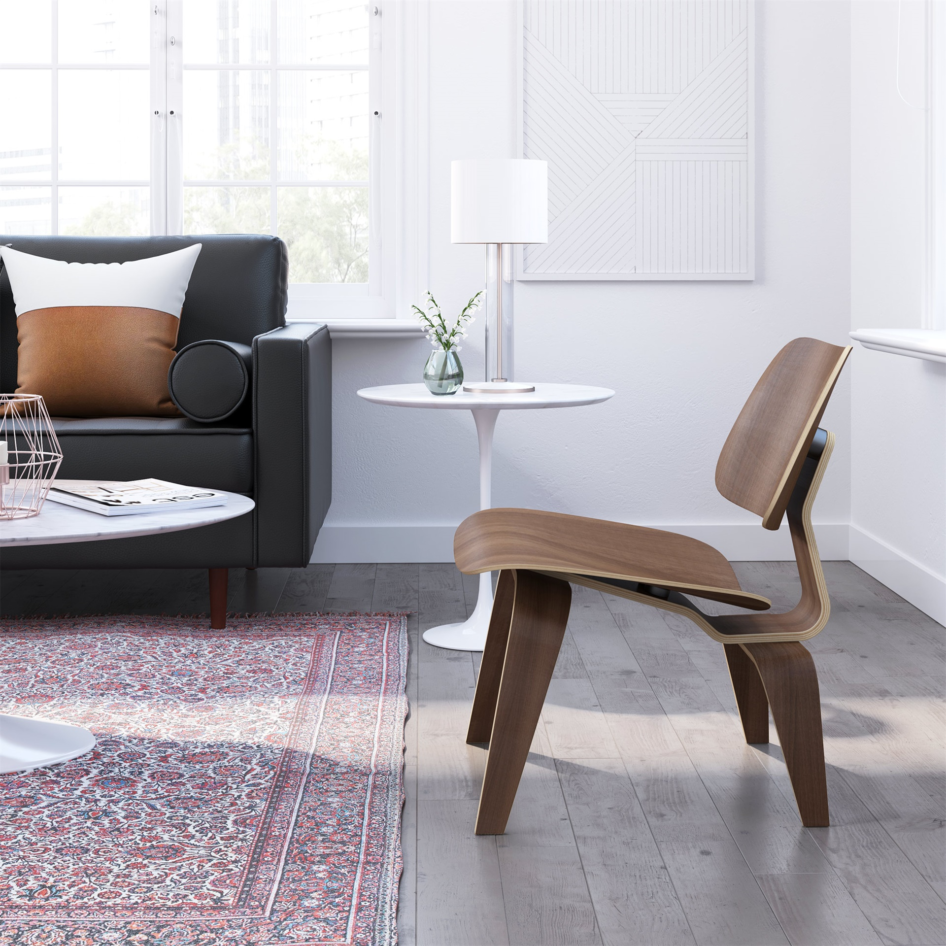 Plywood Lounge Chair With Wood Legs