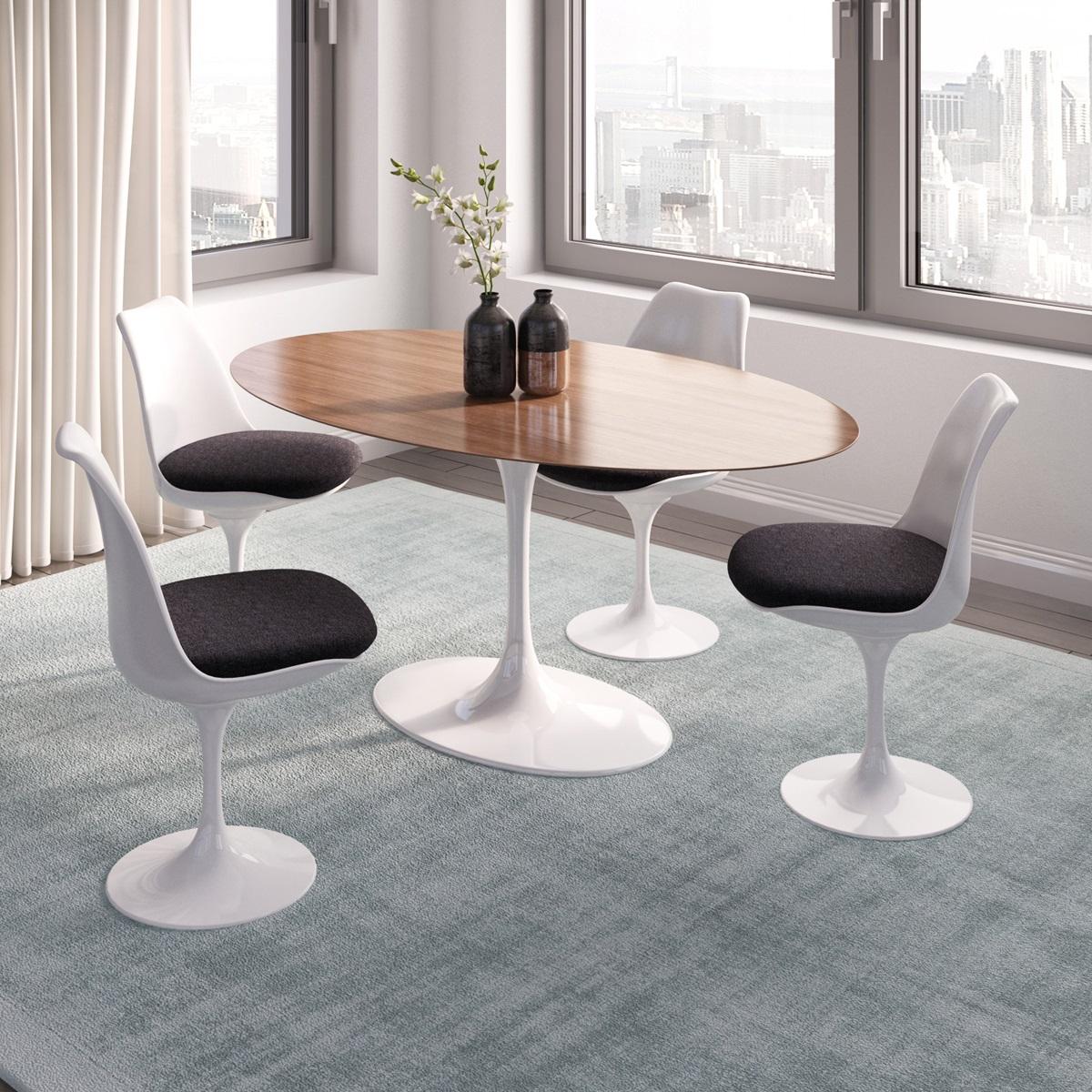 Saarinen Tulip Oval Dining Table - White saarinen oval dining table