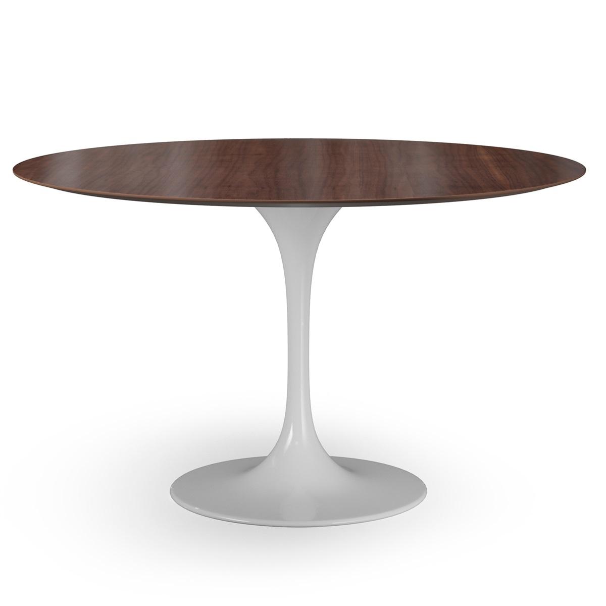 Saarinen Tulip Round Dining Table - Walnut tulip dining table