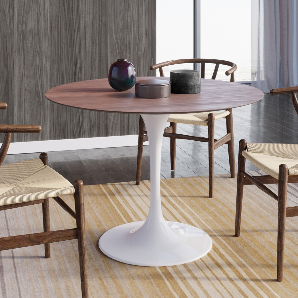 Saarinen Tulip Round Dining Table. U003e