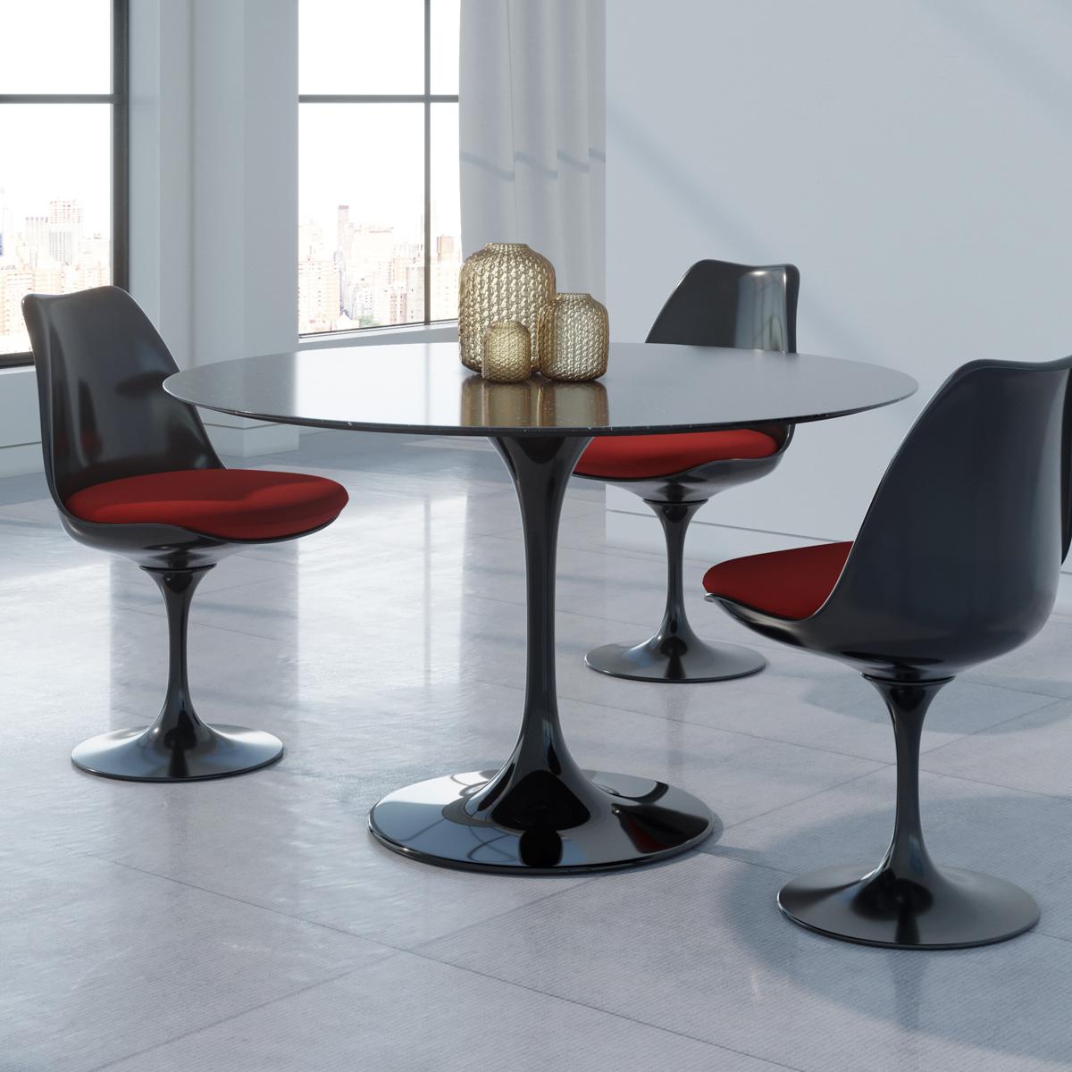 Saarinen Tulip Round Marble Dining Table