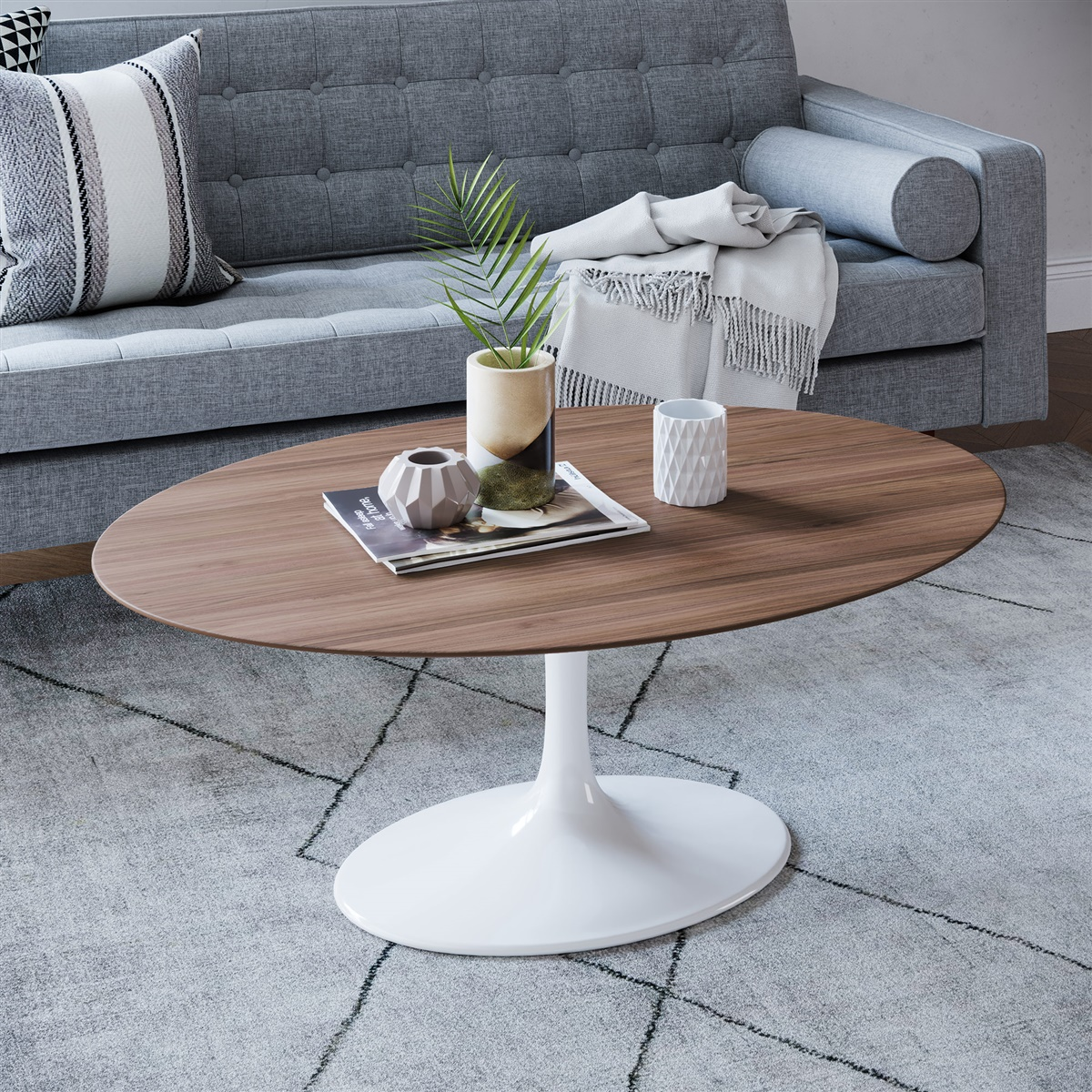 - Saarinen Tulip Oval Coffee Table