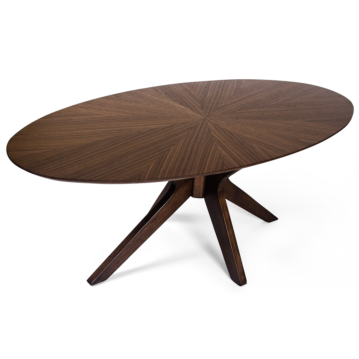 walnut oval contemporary coffee italian table interiors juliettes product