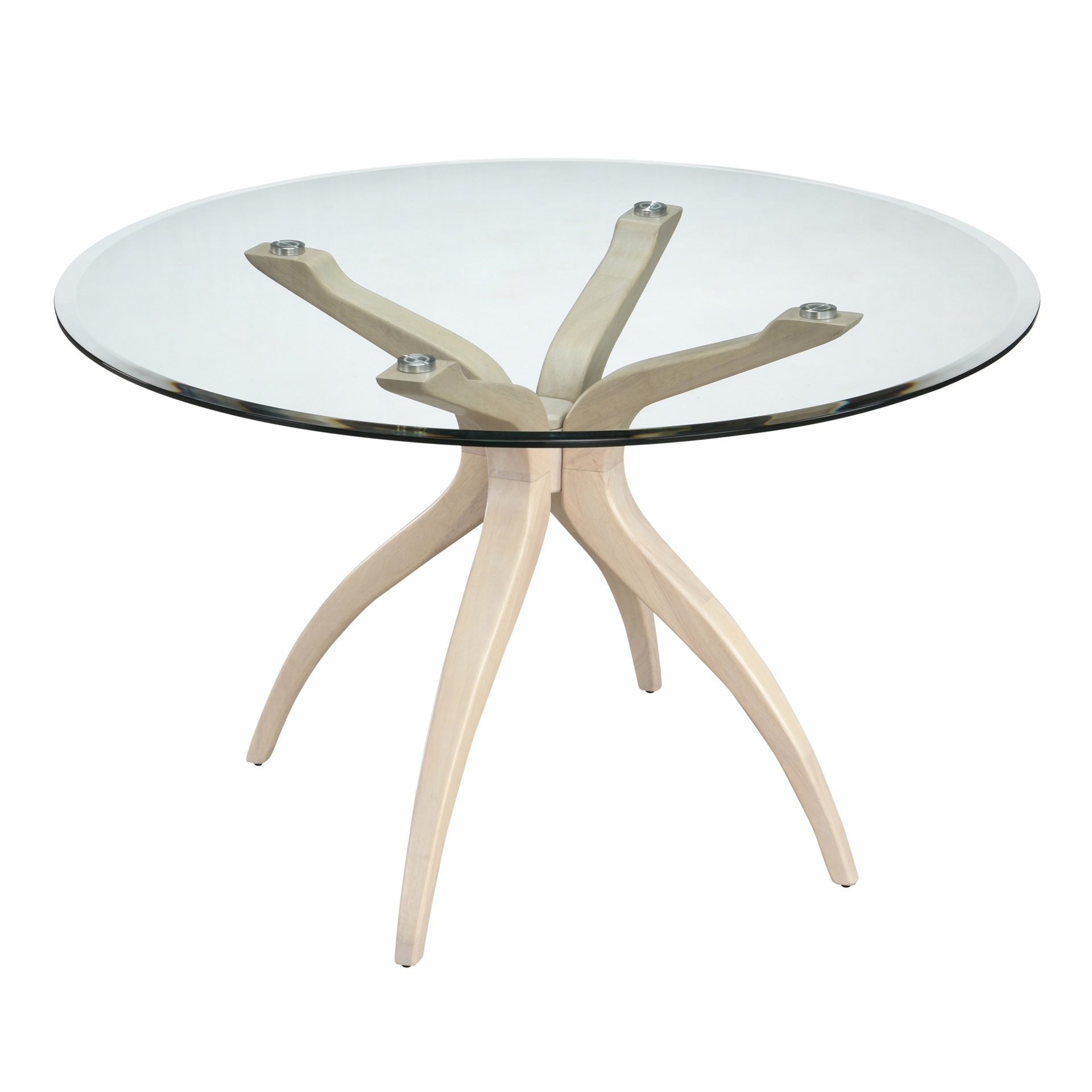 modern sunwash finish glass dining table inmod.com