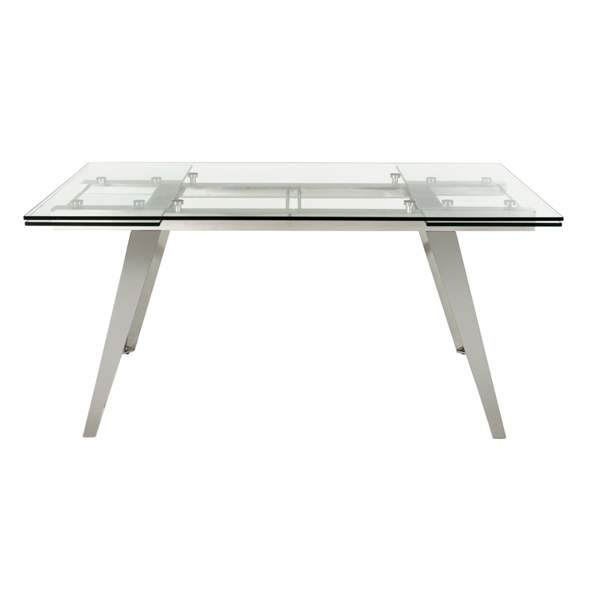 Picture of: Modrest Barium Modern Extendable Glass Dining Table