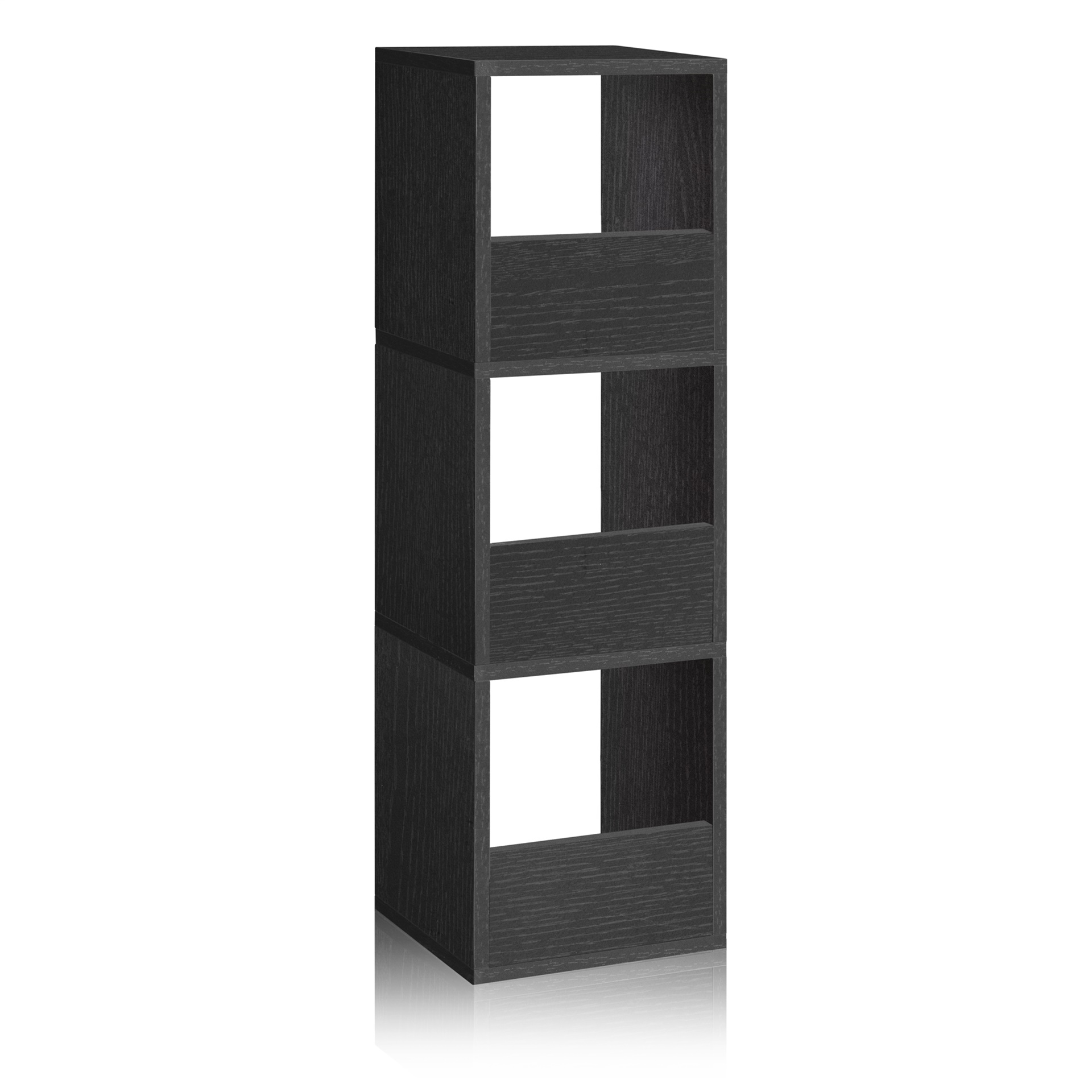 Way Basics Eco Friendly 3 Shelf Trio Narrow Bookcase And