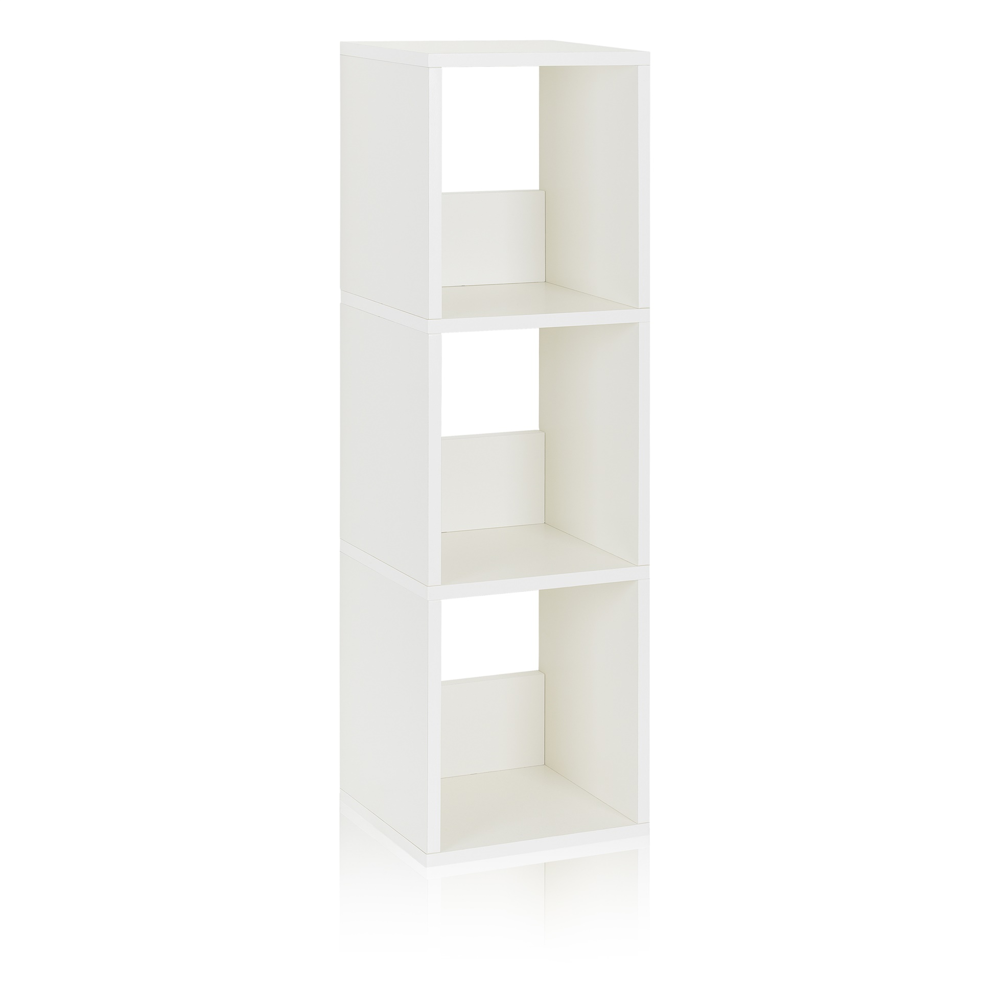 Way Basics Eco Friendly 3 Shelf Trio Narrow Bookcase And