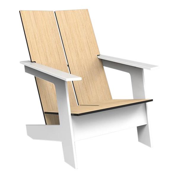Moderondak Lounge Chair (White / Blonde Echo)