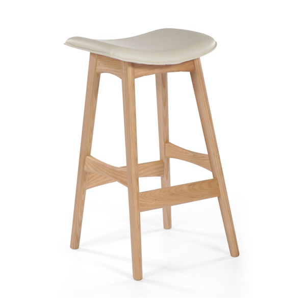 Andersen Allegra Counter Stool (Natural American White Oak / White Leather)