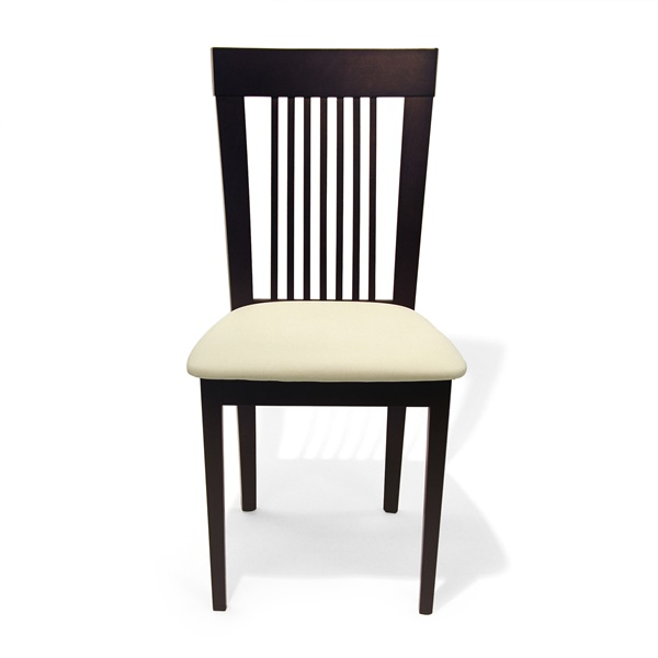 Astra Dining Chair (Coffee / Cream Leatherette)