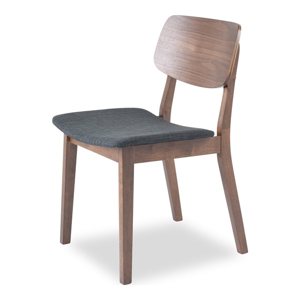 Baldwin Dining Chair - White Oak / Light Gray