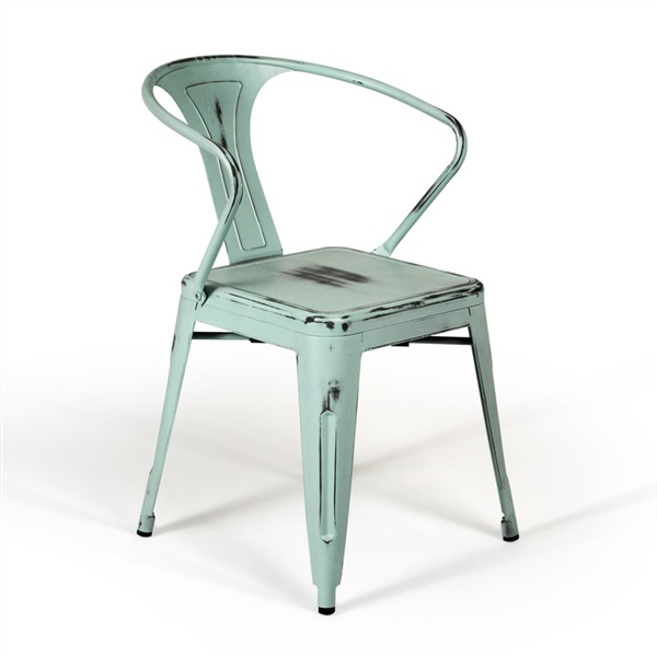 Bastille Cafe Stacking Arm Chair (Antique Turquoise)