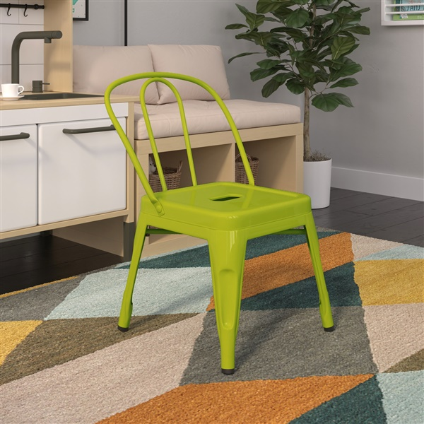 Bastille Cafe Kid's Stacking Chair (Red)