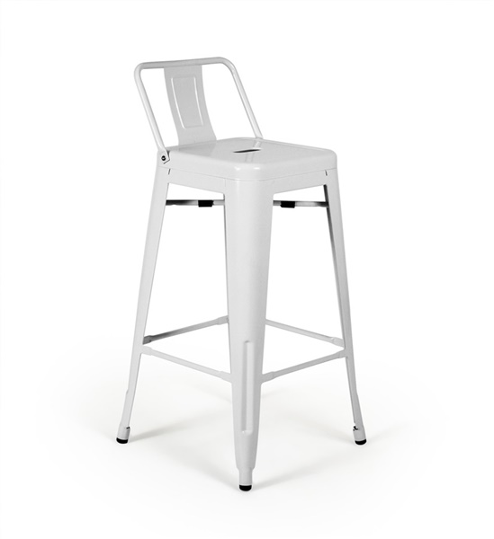 Bastille Counter Stool with Low Back (Gunmetal)