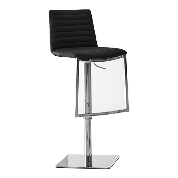 London Swivel Barstool (Black)