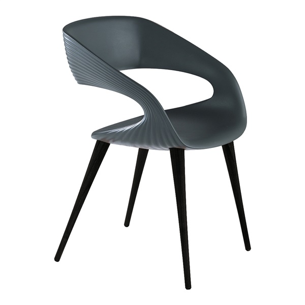 Shape Dining Chair (Anthracite / Anthracite)